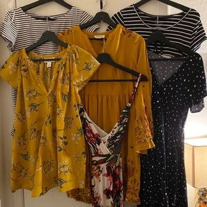 Summer Maternity Collection: 4 Dresses 2 Tops